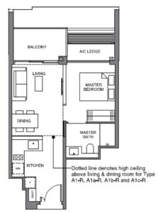 leedon-green-1-bedroom-floor-plan-a1-singapore