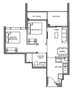 leedon-green-2-bedroom-floor-plan-b1-singapore