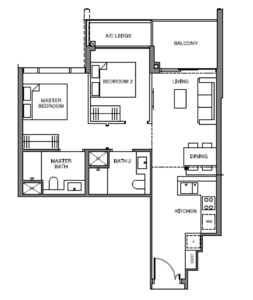 leedon-green-2-bedroom-floor-plan-b5-singapore