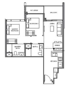 leedon-green-2-bedroom-floor-plan-b5-singapore