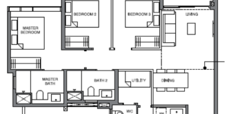 leedon-green-3-bedroom-utility-floor-plan-c2-singapore